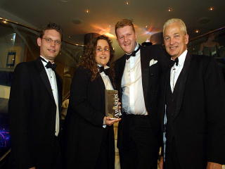 David Gower presents another award to us